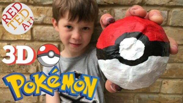 3D Poke Ball DIY