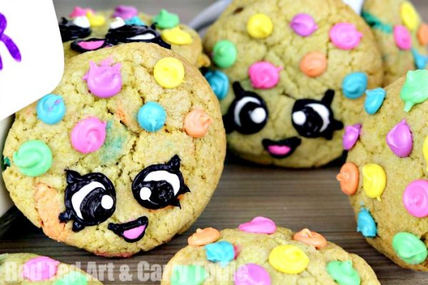 Adorable Rainbow Cookie recipe and kawaii gift jar diy