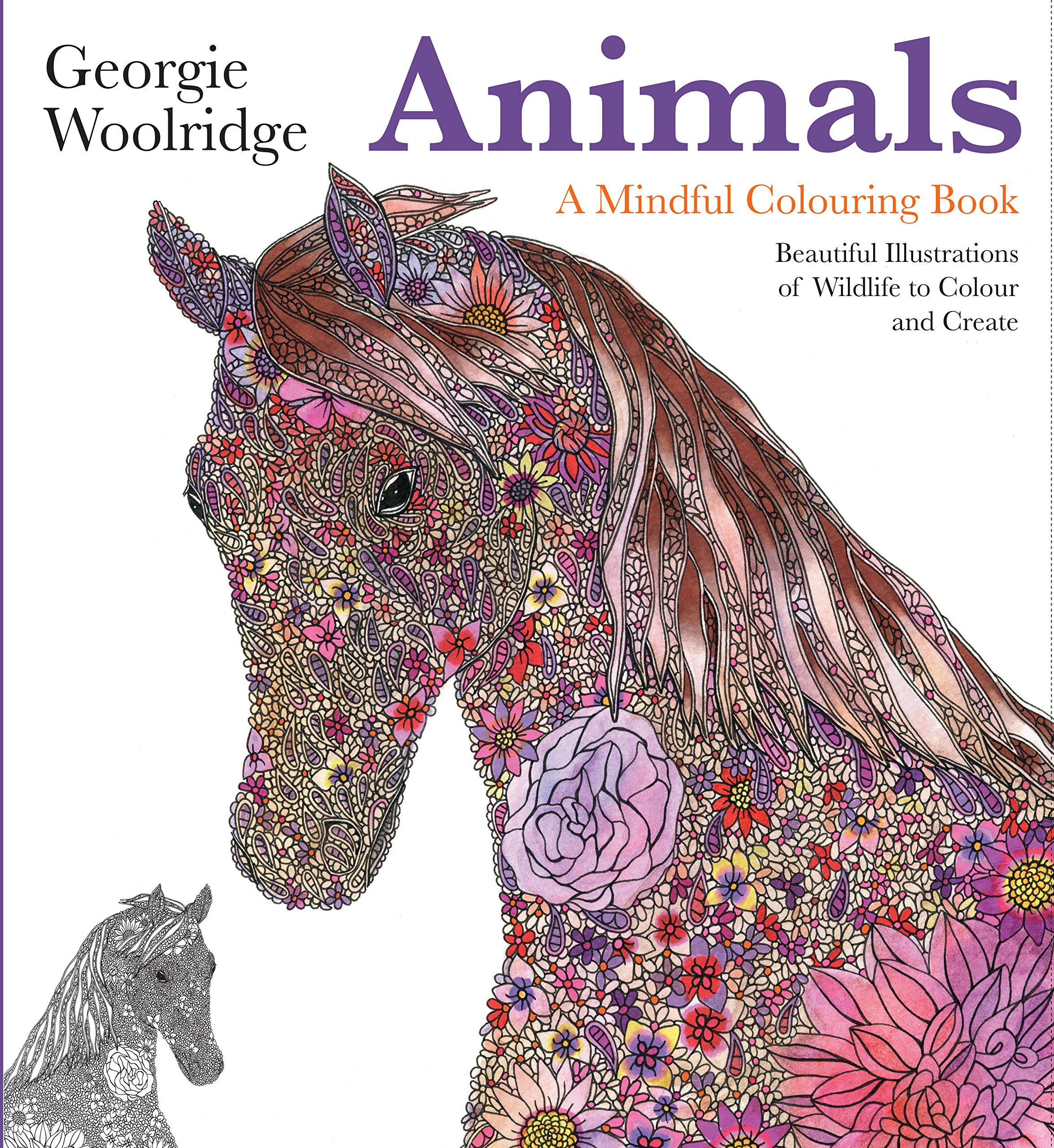 Animals coloring Book by Georgie Woolridge