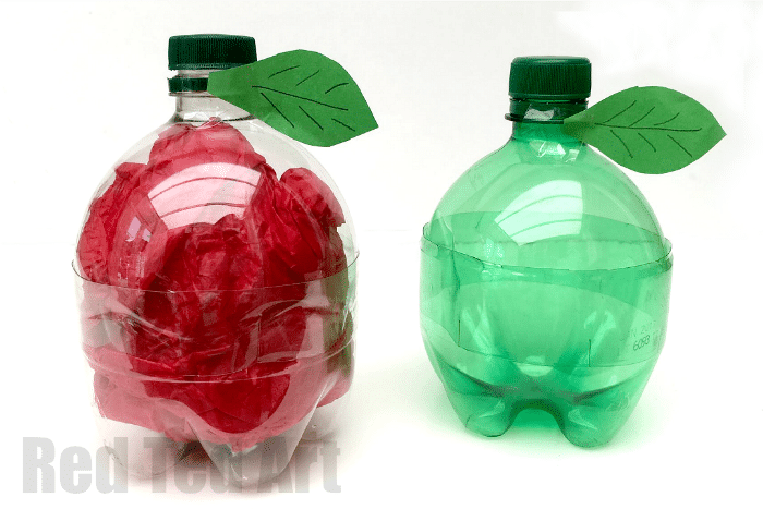 Diy Plastic Bottle Apple Back To School Or Teacher S Gifts Red