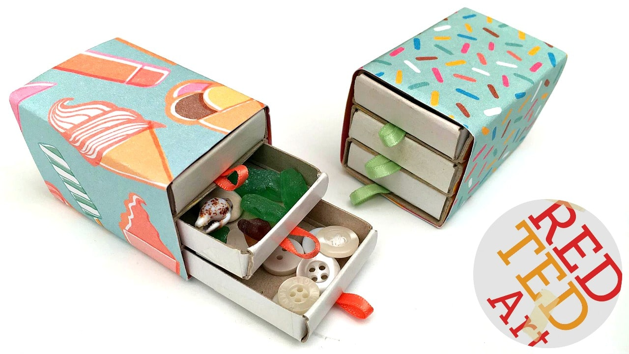 Cute and easy matchbox drawers - great as a mini sewing kit, for trinkets or jewelry