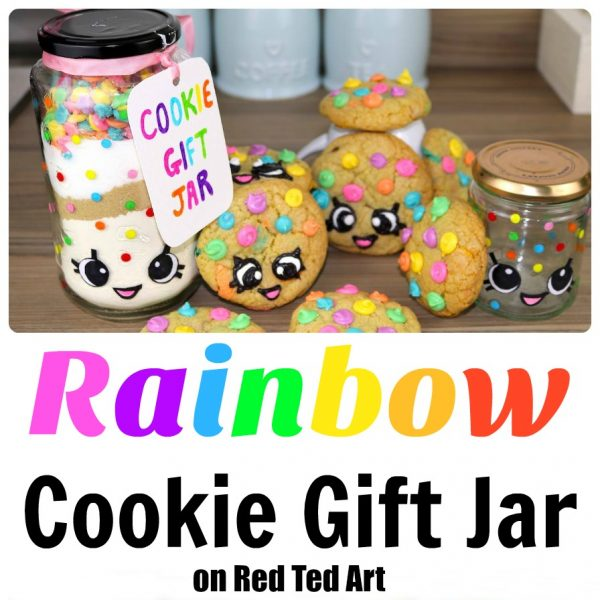 Gorgeous Rainbow Cookie Gift Jar Set - For inspired by both Kawaii and Shopkins, these are simply adorable to make and give!