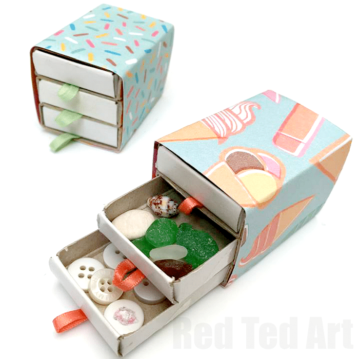 No glue Matchbox Drawers - so quick and easy to make
