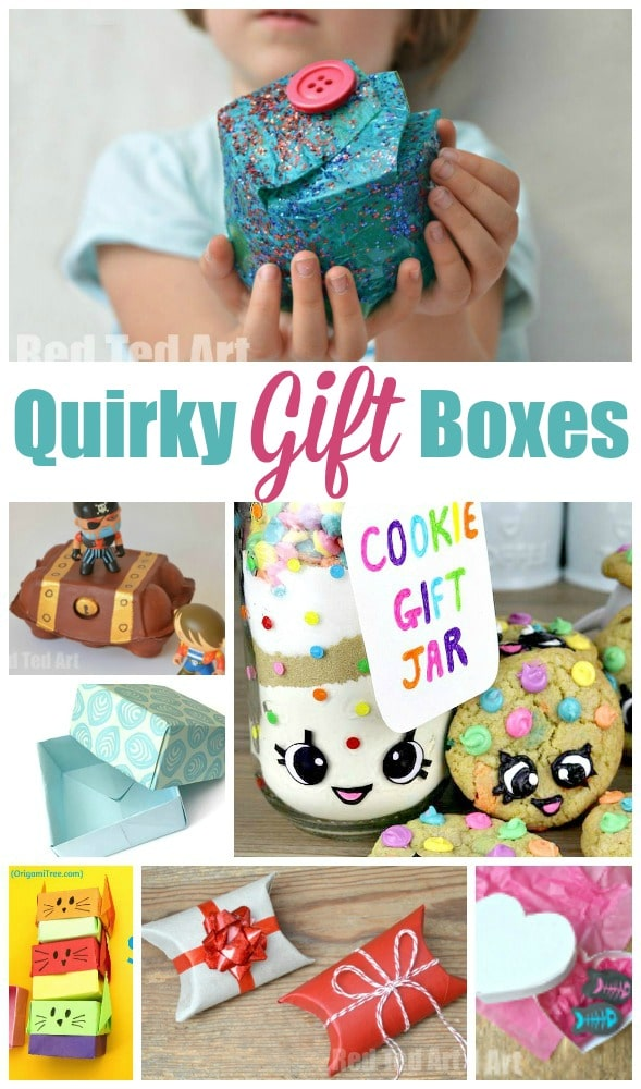 Over 15 Quirky Gift Box ideas for kids to make and enjoy! Great for individual gifts or party treat boxes.