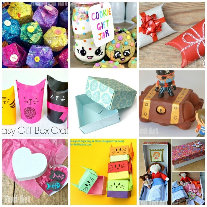 Over 15 Quirky Gift Box ideas for kids to make and enjoy! Great for individual gifts or party treat boxes