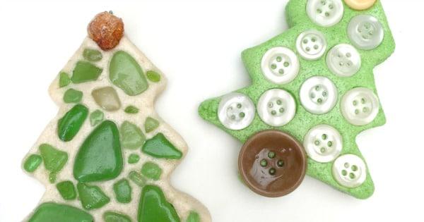 Sea Glass Ornaments – Salt Dough Tree Ornament