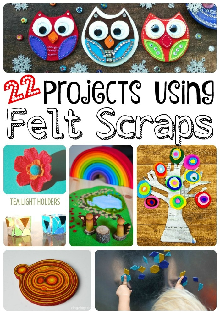 Wonderful Projects using Felt Scraps or small pieces of scraps. We have a great selection of both No Sew Felt Projects and Beginners Felt Sewing Projects. Felt is so colourful and versatile, I hope you enjoy these ideas as much as I do!