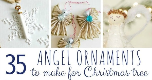 Angel Ornaments For Christmas Tree.Diy Angel Ornaments Red Ted Art