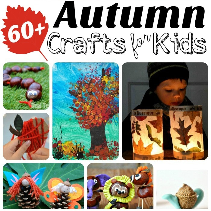 Autumn Crafts for Kids - we adore the Autumn DIY season - so many great themes and topics to explore for Fall Art Projects to Nature DIYs, you will find something for everyone!! Awesome. I want to them all now, NOW!