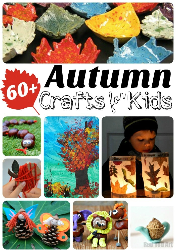 Autumn Crafts for Kids - the best collection of easy and fun Fall DIYs for kids. From nature crafts, to leaf crafts, to garlands and woodland creatures. Plenty to keep you busy in the classroom and at home!
