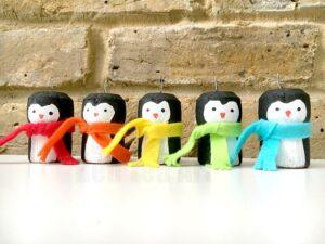 Cork Penguin Ornaments