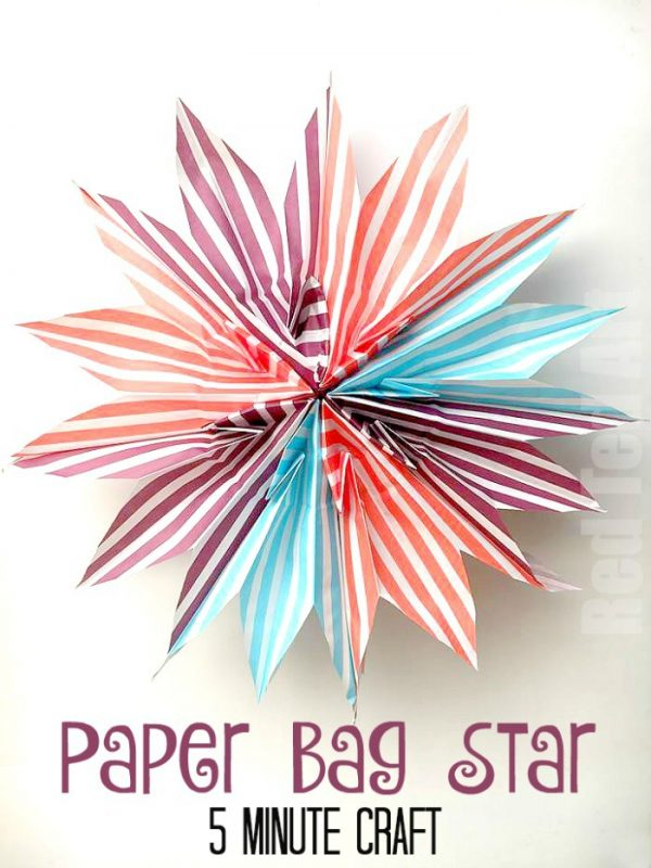 DIY Paper Bag Star - these paper bag stars are surprisingly QUICK to make. Which makes them the ideal Party Decoration for Proms, Weddings, Christmas and schools