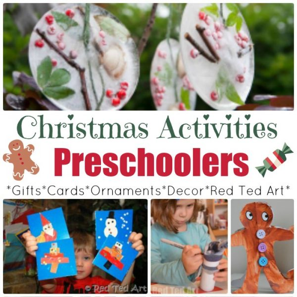 Over 50 Christmas Crafts for Preschoolers! We love these great crafts and activities for tots and preschoolers, keeping them busy and making things festive these holidays! Merry Christmas! #Christmas #ChristmasCrafts #ChristmasCraftsPreschool #Preschool #Preschoolers #CraftsforPreschoolers