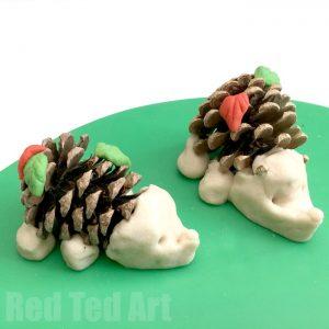pine-cone-hedgehogs-salt-dough
