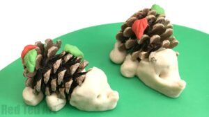 pine-cone-hedgehogs-with-salt-dough