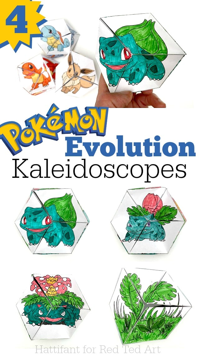 Pokemon Evolution DIY - Paper Toys - Kaleidocycle #pokemon #printables #toys #pokemoncrafts #pokemondiys #pokemonprintables #kaleidoscopes