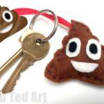 Poop Emoji Keychain DIY
