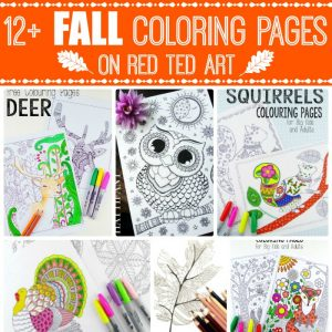 free adult coloring pages for fall