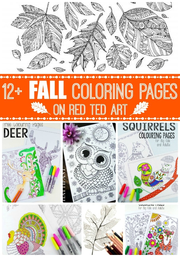 Free Printable Adult Coloring Pages for Fall - Red Ted Art\'s Blog