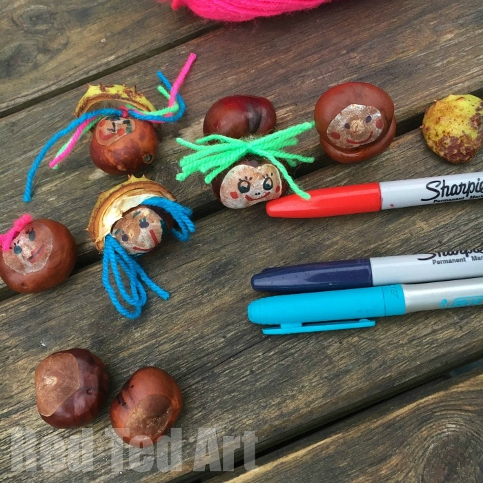 Chestnut crafts for kids conker faces red ted art 39 s blog for Crafts made from nature