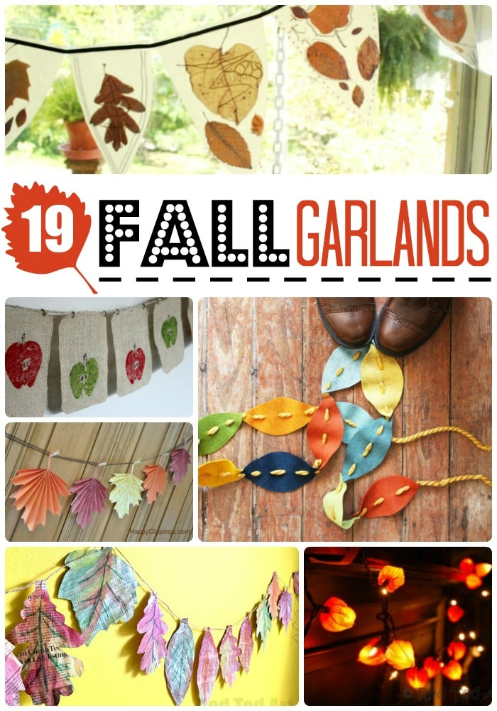 19 easy fall garland diy ideas - love to decorate for fall? Here are some fabulous DIY Garland Ideas for Fall. Great for both adults and garland for kids to make too! Just lovely. Enjoy creating your own Fall Decor this season!