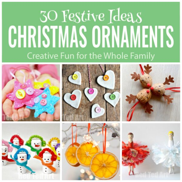 Best Christmas Ornaments ebook - learn how to make 30 Ornaments this Christmas - in a handy one page instruction sheet printables. #christmas #ornaments #printables