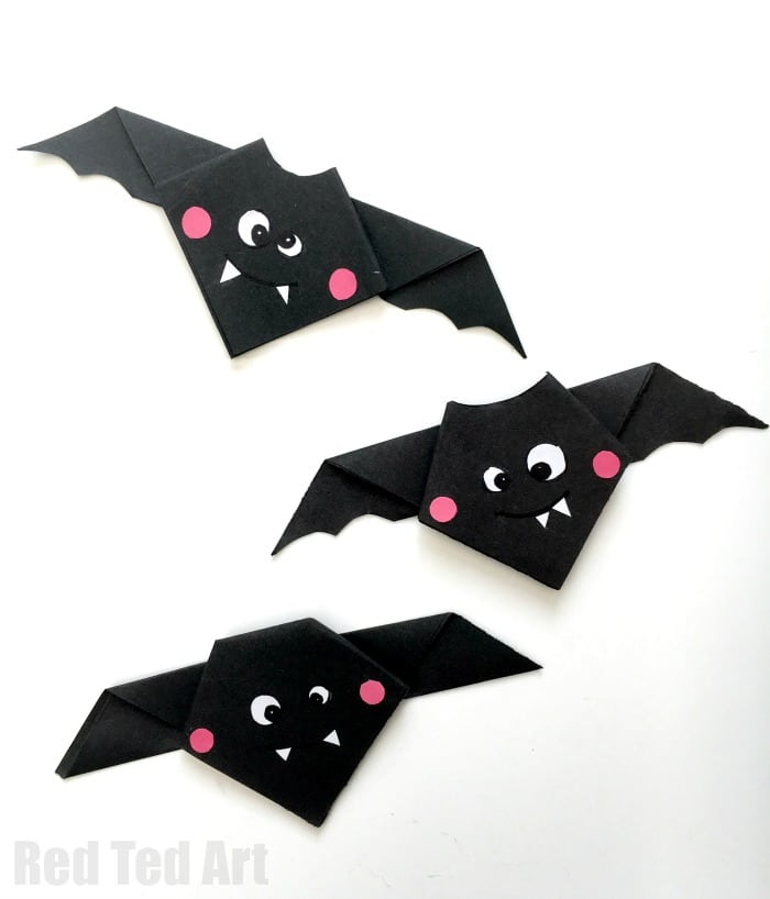 easy origami bat red ted arts blog