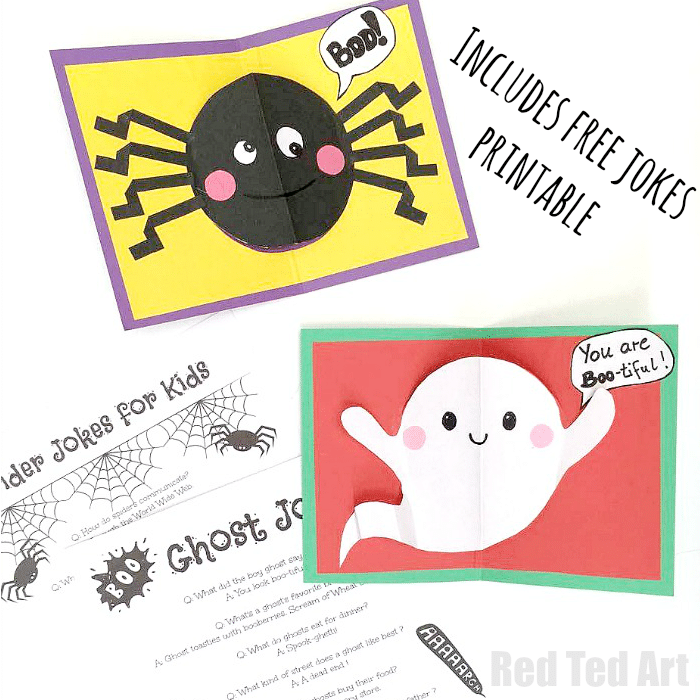 DIY Halloween Pop Up Cards for Kids - Red Ted Art's Blog