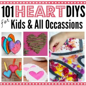 Conversation Heart Crafts for Kids - fun Conversation Hearts. A great heart craft for kids valentine's. #kidscrafts #valentines #conversationhearts #hearts #crafts #heartcrafts