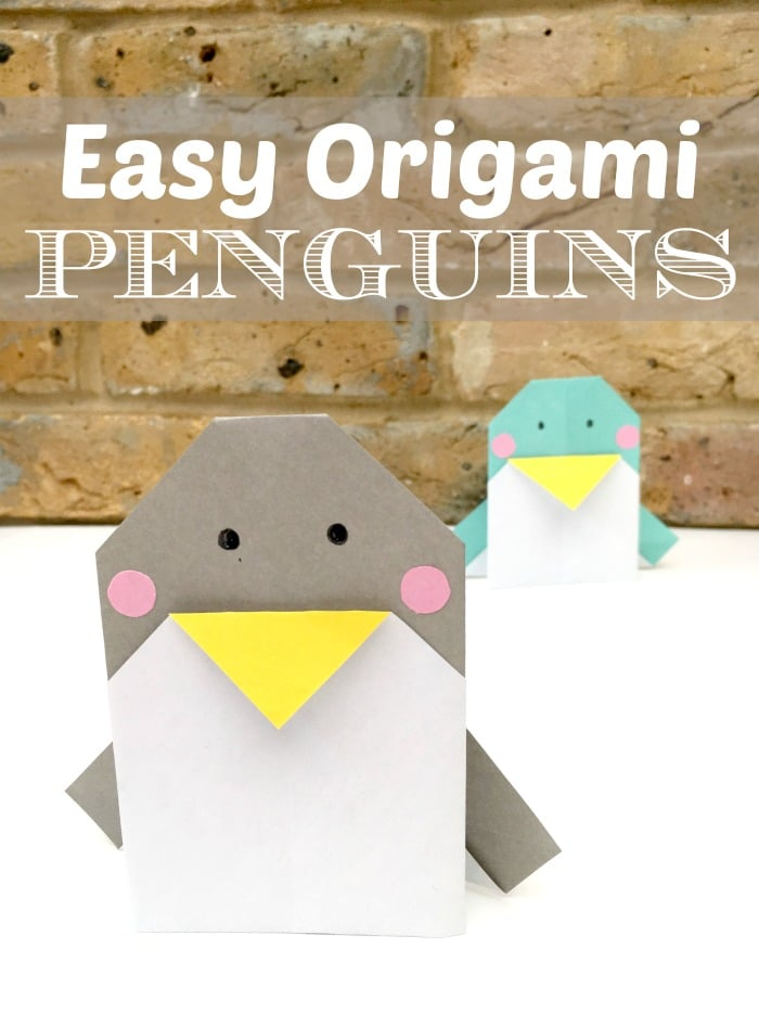 Adorable Easy Origami Penguins. Not only are these CUTE Penguin Decorations, but you can actually use them as Penguin Greeting Cards too! Yes, they are perfect for writing on and posting to love ones this holiday season. Wonderful and easy Penguin Origami card DIY