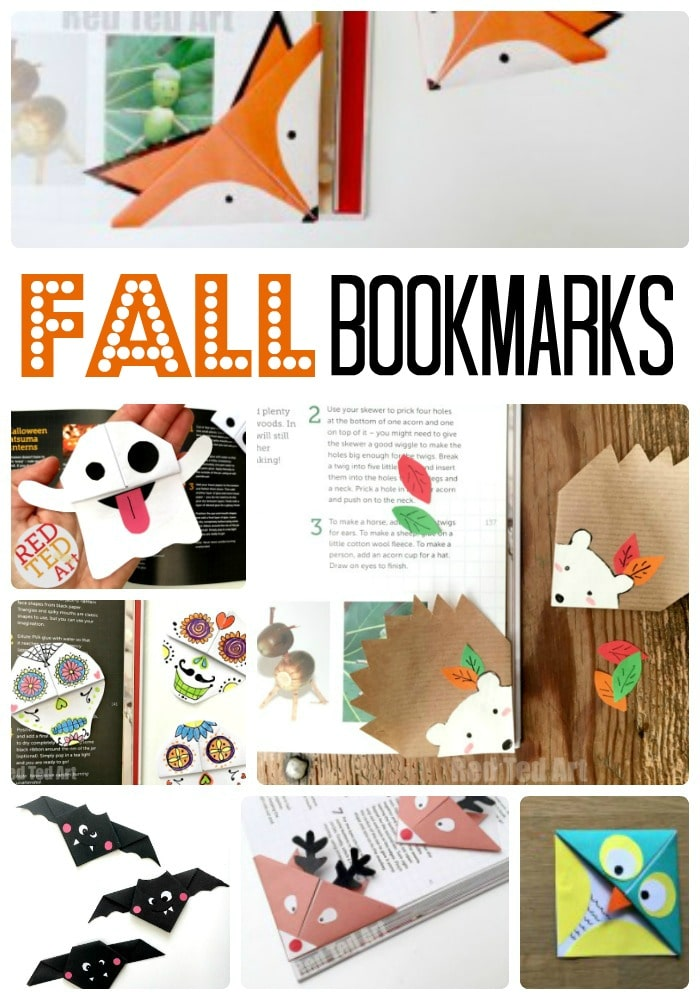 fall corner bookmark ideas for kids we love fall and all the fabulous colours