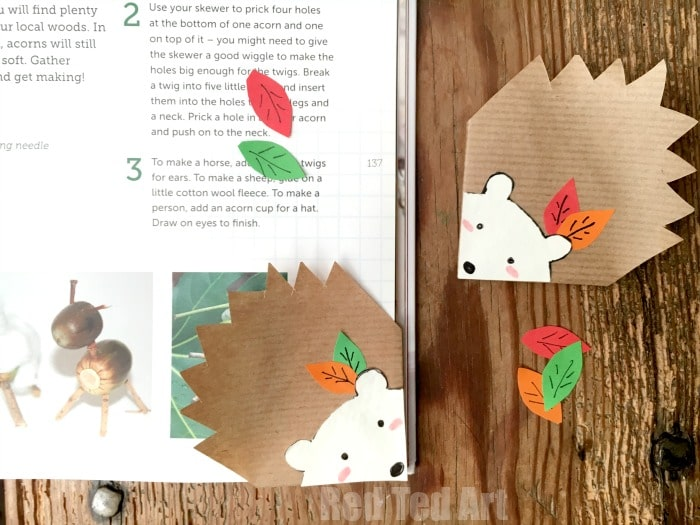 How To Make A Book Hedgehog : Hedgehog bookmark corner diy red ted art s