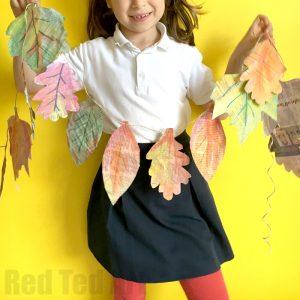 Newspaper Craft Ideas for decoration: Make Autumn Leaf Garlands