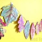 Newspaper Leaf Garland
