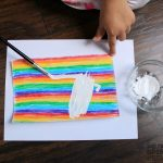 painting-white-for-rainbow-heart-valentines-day-card