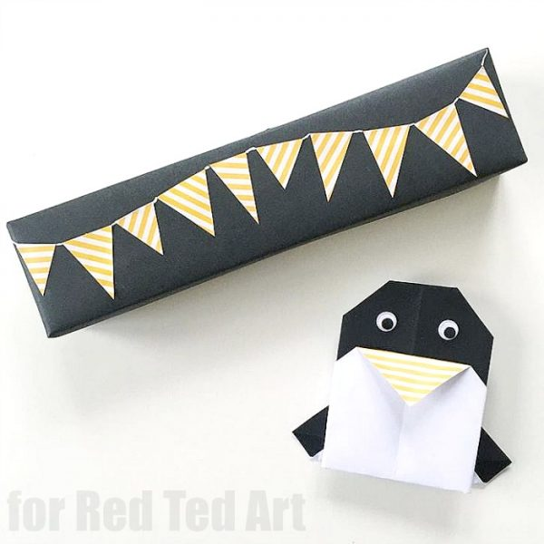 Easy Origami Penguin Cards