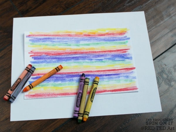 using-crayon-rainbow-pattern-for-heart-art