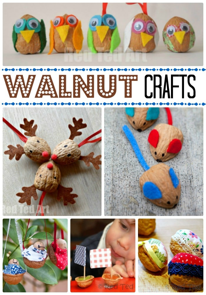 We love traditional Walnut DIYs. Walnuts are quirky, wonderfully textured and there are so many thing you can make! Crafting with Walnuts is fun and always reminds me of Autumn and Christmas. Check out these easy walnut crafts for kids!