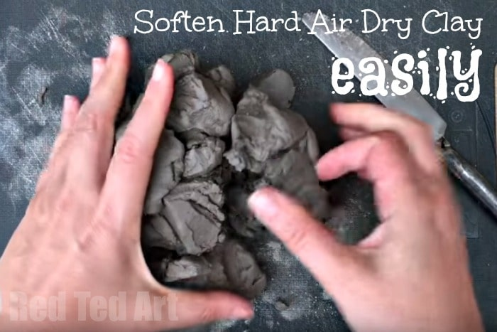 How to soften harden air dry clay EASILY. Have some air drying clay that is hard and can't work with it? This is the easiest method to soften it back down, ready for a great air drying clay project!