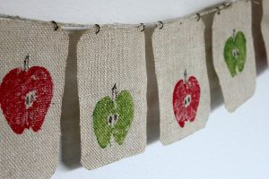 Fall Garland DIY - apple garland