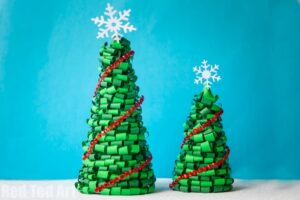 3d-paper-quilled-christmas-trees