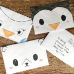 Cute Origami Envelope – Winter Animals