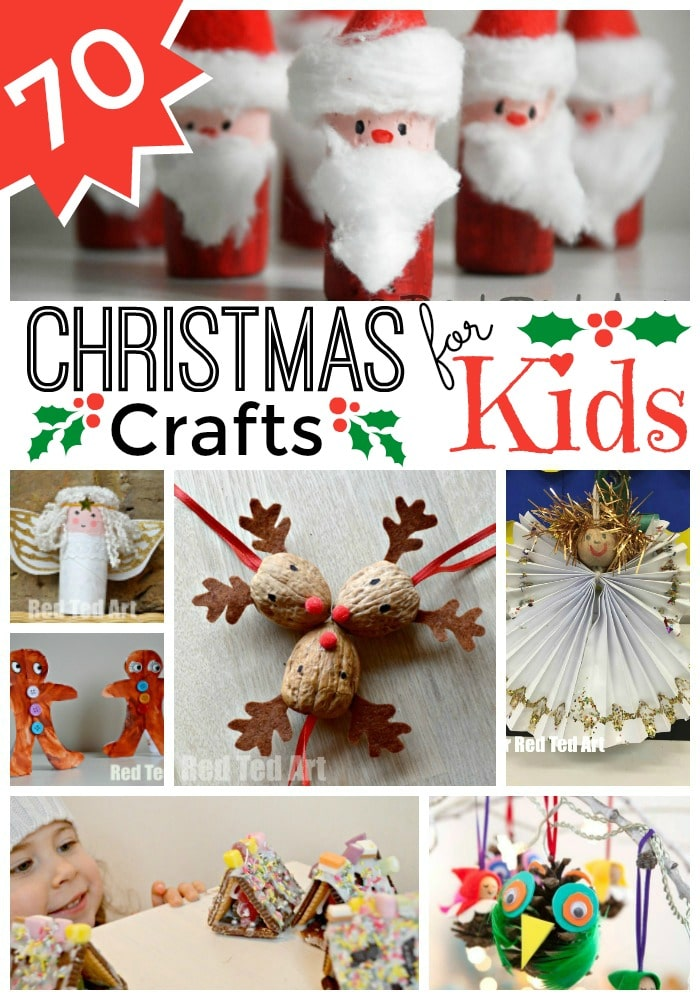 Easy Christmas Crafts for Kids - Red Ted Art
