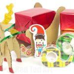 Reindeer Sleigh Gift Wrap Idea