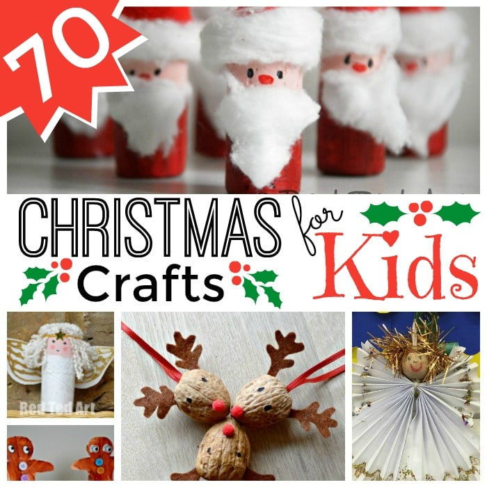 Easy christmas crafts for kids red ted art 39 s blog for Easy crafts for christmas presents