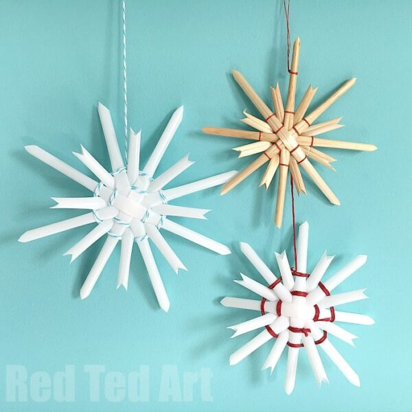 Traditional Straw Star Ornaments