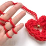 Finger Knitting Heart Ornament