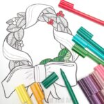 Christmas Wreath Coloring Pages for Grown Ups