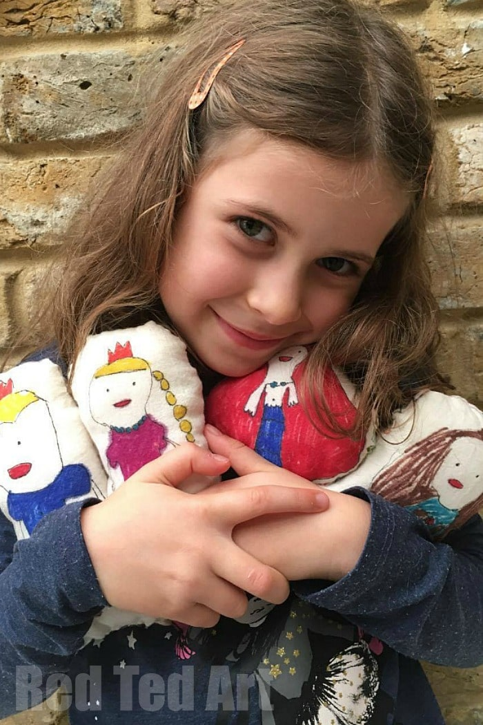 Art Doll for Kids - these are a great dolls for kids to sew and a wonderful way to build both their arty and sewing confidence and skills. My kids adore making these arty dolls as well as playing with them! (love the mermaid!!)
