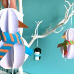 Easy Paper Snowman Ornaments